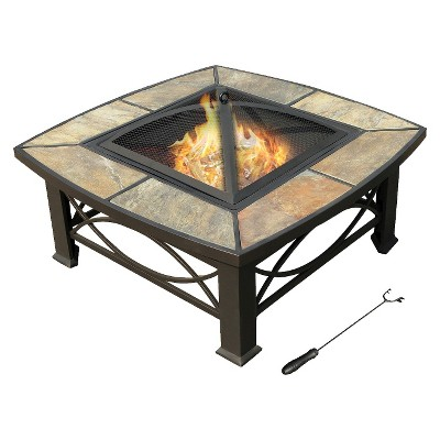 leisurelife™ 33  Alba, Slate Fire Pit