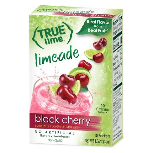 True Lime Black Cherry Limeade Drink Mix - 10pk/1.06oz - image 1 of 1