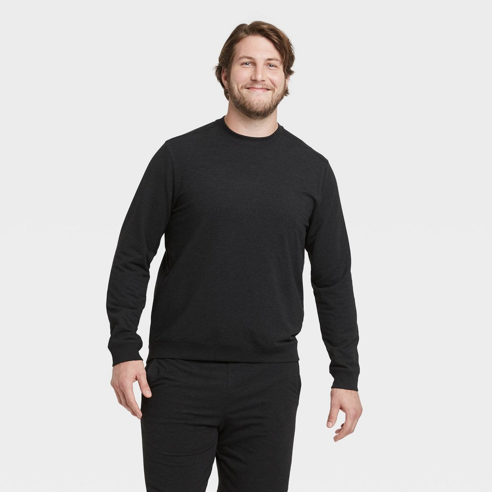 Men's Soft Gym Crew Sweatshirt - All in Motion Black L, Men's, Size: Large was $28.0 now $14.0 (50.0% off)