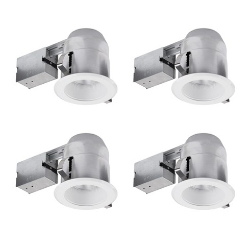 Globe Electric 91014 1 Light Recessed Lighting Kit (4 Pack) Includes Trim, Housing / Can, Patented Clip System and Electrical Box - image 1 of 1
