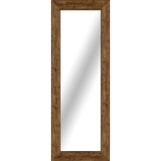 Rectangle Washed Wood Floor Mirror Brown - Threshold™