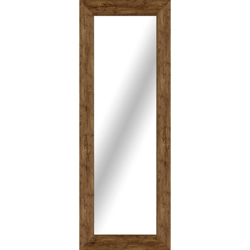 Rectangle Washed Wood Floor Mirror Brown - Threshold™ - image 1 of 1