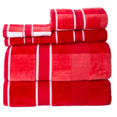 6pc Striped Bath Towel Set - Yorkshire Home