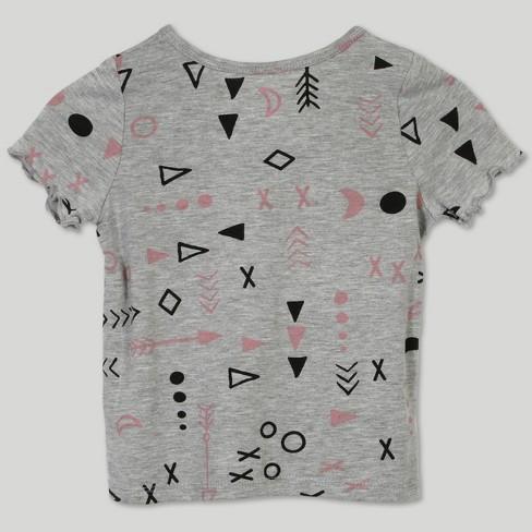 50b4e16e497 Afton Street Toddler Girls  2pc Short Sleeve T-Shirt and Overall Set - Black