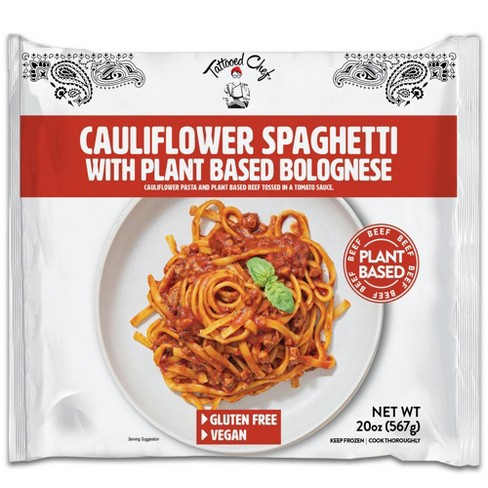 Tattooed Chef Frozen Cauliflower Spaghetti with Plant Based Bolognese - 20oz - image 1 of 4