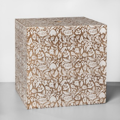 Decorative Lidded Box White Feather 16 x16  - Opalhouse™