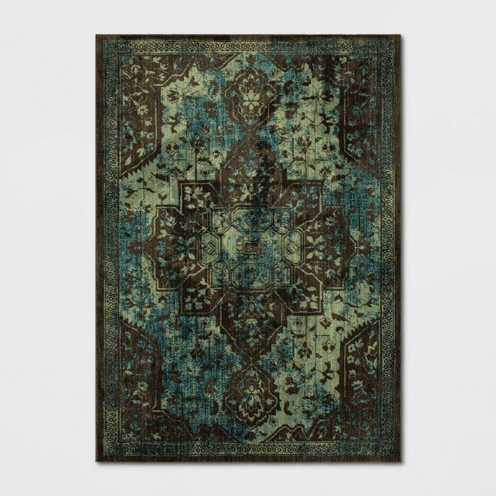 Elaenia Vintage Persian Woven Rug Teal