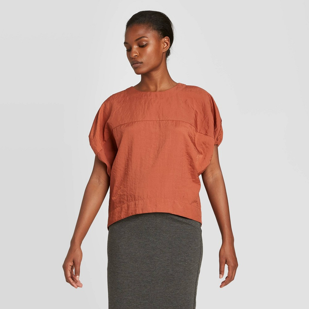 Women's Short Sleeve Blouse - Prologue Brown M was $24.99 now $17.49 (30.0% off)