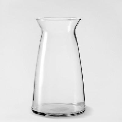 "9"" x 5.3"" Decorative Cinch Glass Vase Clear - Threshold™"