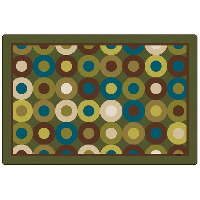 4'x6' Rectangle Woven Shapes Area Rug Green - Carpets For Kids