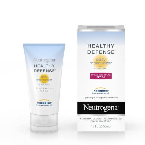 Neutrogena Healthy Defense Daily Face Moisturizer -SPF 50 - 1.7 fl oz - image 1 of 10