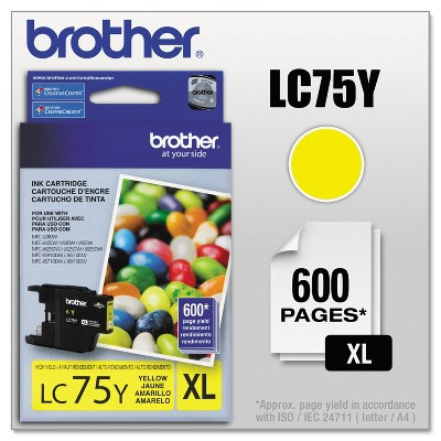 Brother LC75Y Innobella High-Yield Ink Yellow