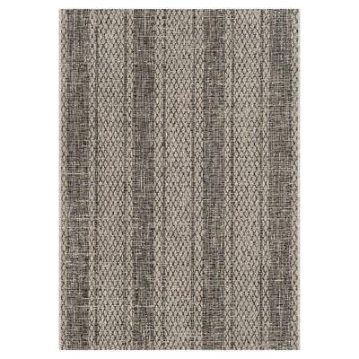 Grady 4' x 5'7  Indoor/Outdoor Rug Light Gray/Black - Safavieh