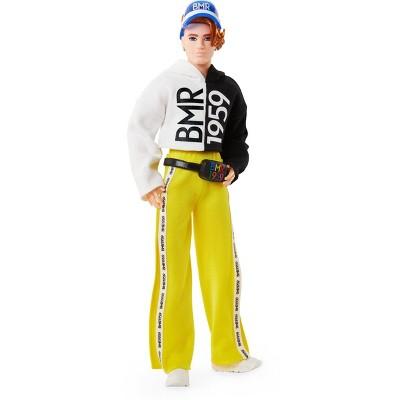 Barbie BMR1959 Ken Doll with Split Color Hoodie, Track Pants, and Visor