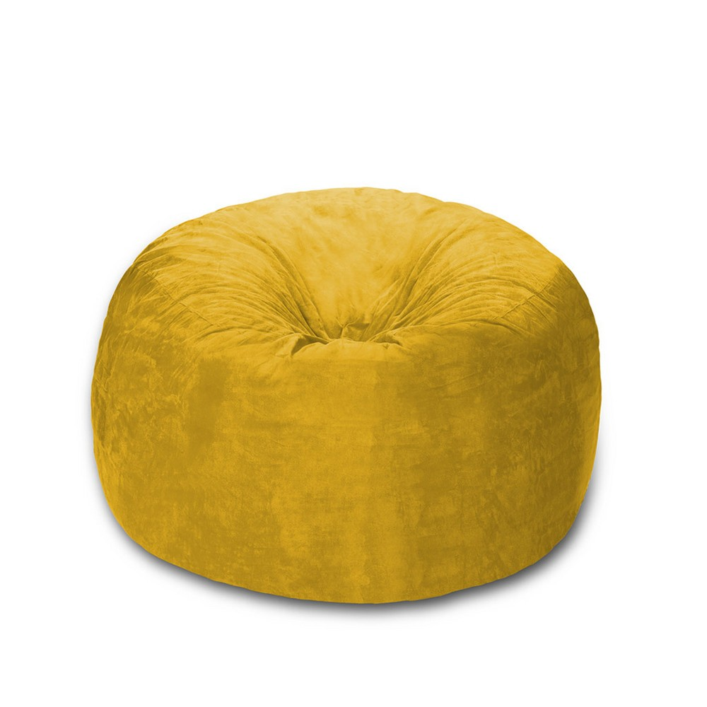Image of 4 ft Microsuede Sack Lemon - Relax Sack, Yellow