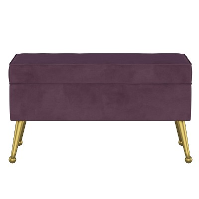 Jayda Storage Bench with Splayed Velvet - Opalhouse™