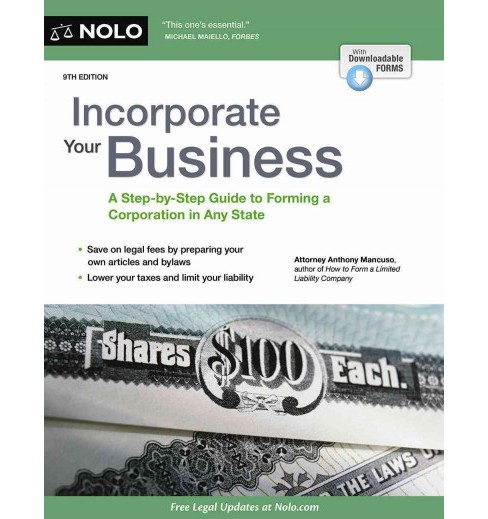 Incorporate Your Business -  (Incorporate Your Business) by Anthony Mancuso (Paperback) - image 1 of 1
