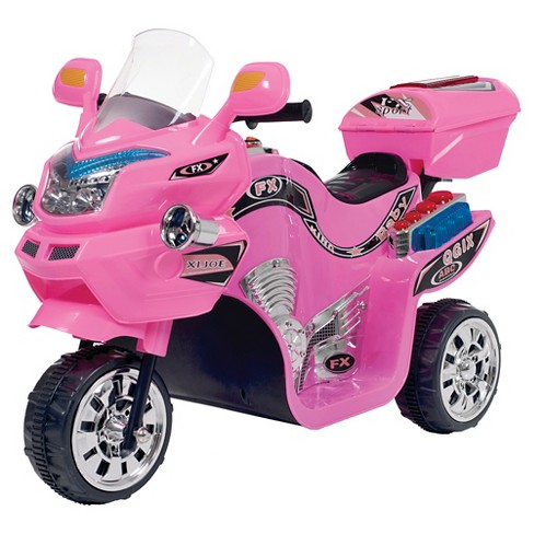 Lil' Rider 3 Wheel Battery Powered FX Sport Bike - Pink - image 1 of 1