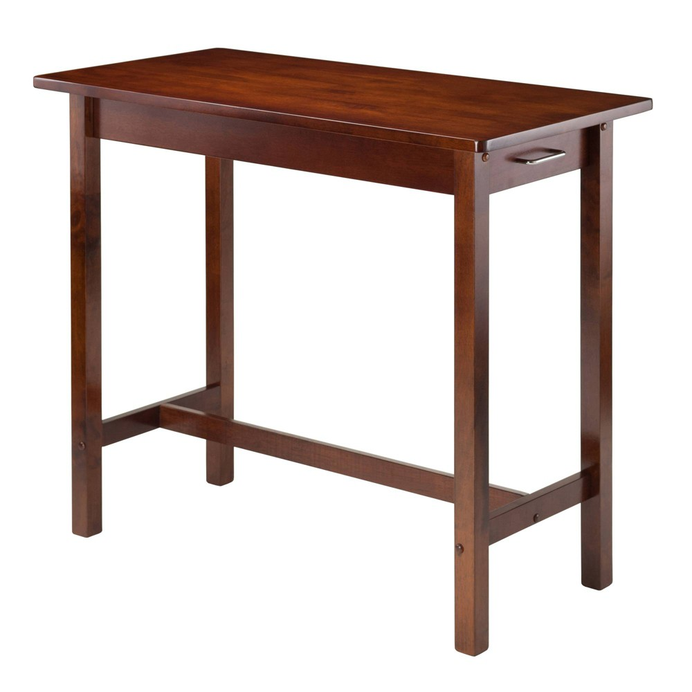 Breakfast Dining Table Wood Antique Walnut Winsome