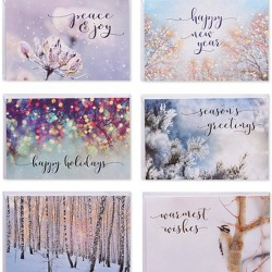 48ct Blank Holiday Greeting Card Bundle