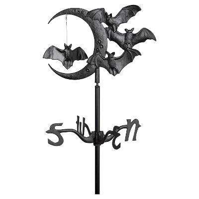 17.5  Halloween Bat Garden Weathervane - Black - Whitehall Products