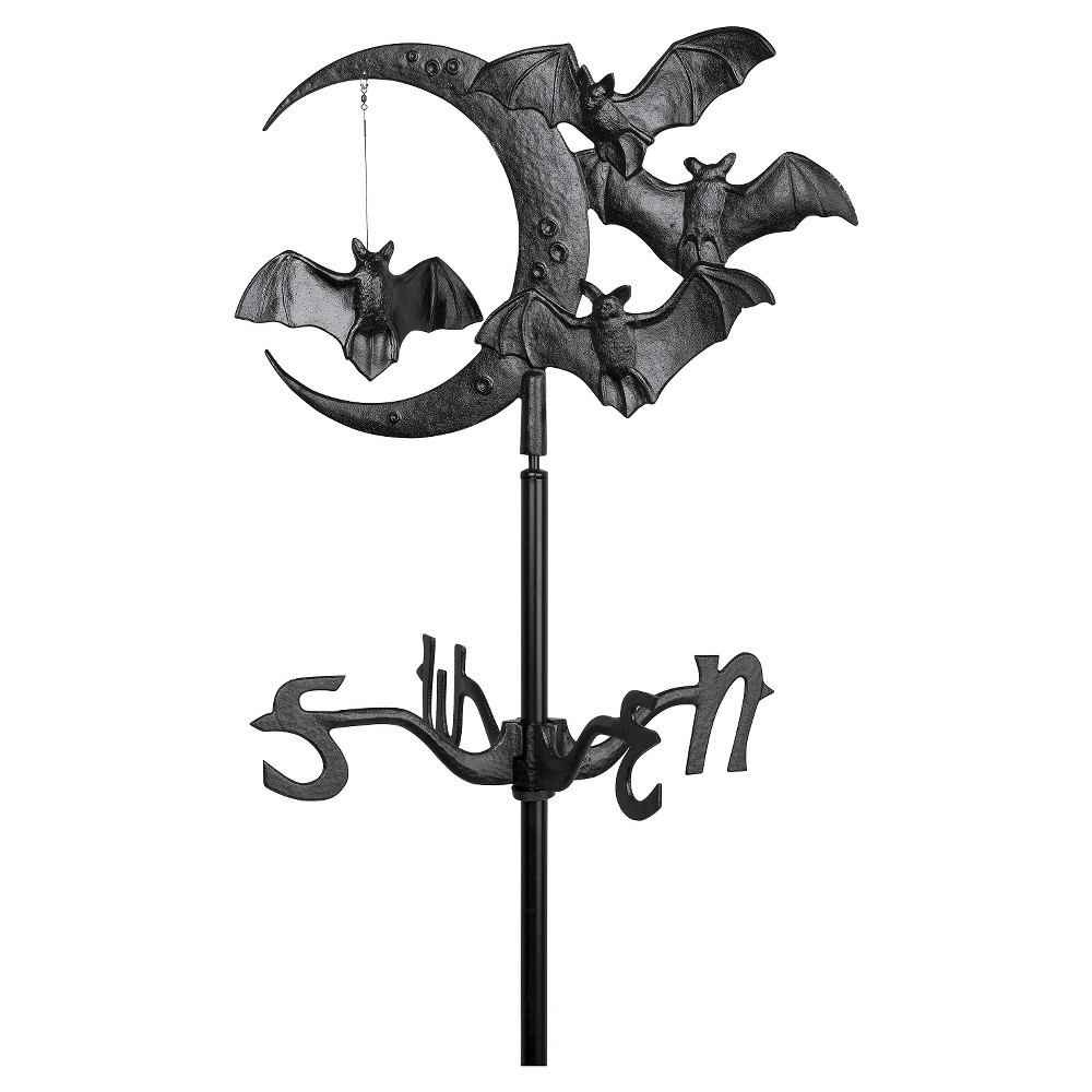 "Image of ""17.5"""" Halloween Bat Garden Weathervane - Black - Whitehall Products, Brown"""