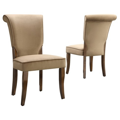 Pershing Dining Chair Wood/Peat (Set of 2) - Inspire Q - image 1 of 4