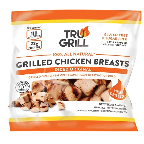 Tru Grill 100% All Natural Grilled Chicken Breasts - 3oz