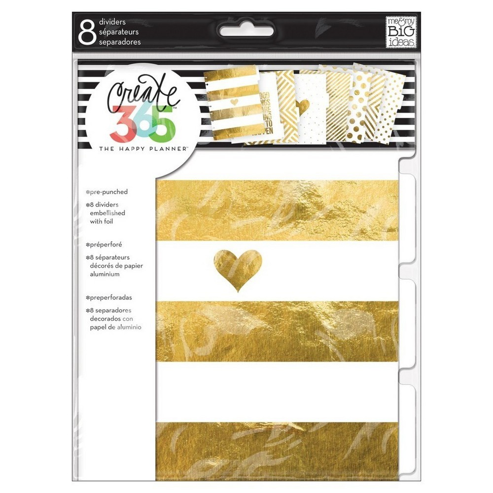 "Image of ""Create 365 Dividers-Gold, White 9.25""""x7"""""""