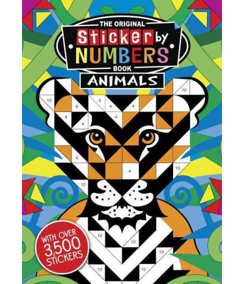 Original Sticker by Numbers Book Animals (Paperback) - image 1 of 1