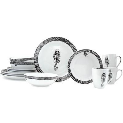 Robe Factory LLC Harry Potter Voldemort Death Eater Dinnerware Sets | 16-Piece Ceramic Dinner Set