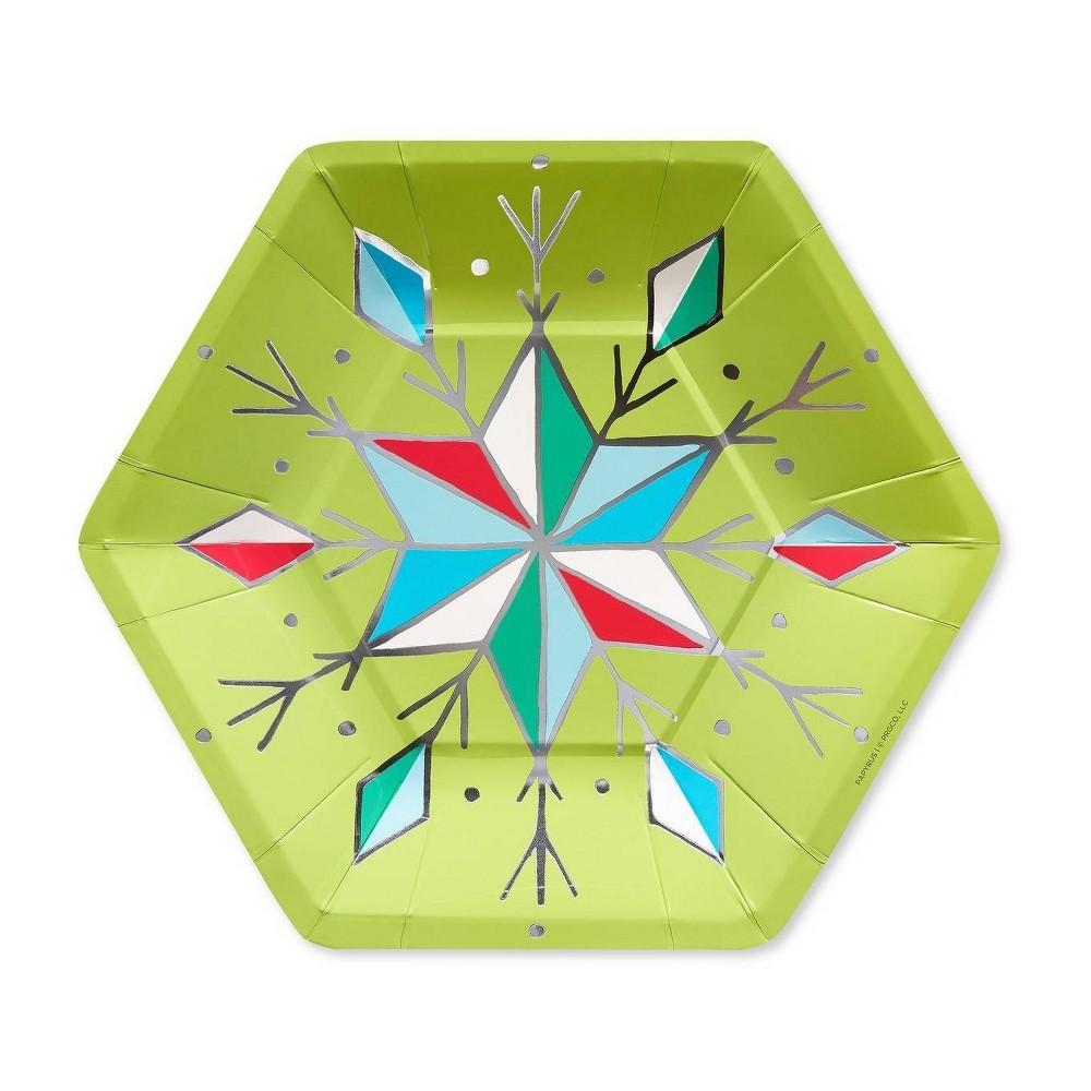 Image of 16ct Making Spirits Bright Paper Dessert Plate - PAPYRUS