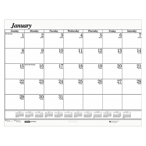 House of Doolittle™ Recycled One-Color Dated Monthly Desk Pad Calendar Refill 22w x 17h 2018 - image 1 of 1