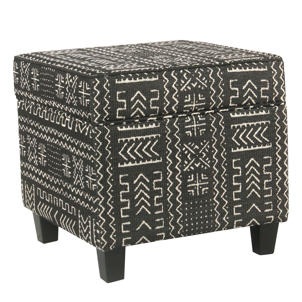 Square Storage Ottoman with Lift Off Top Onyx - Homepop was $84.99 now $63.74 (25.0% off)