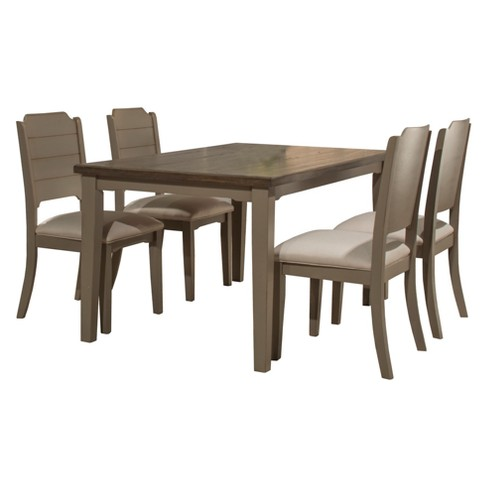 Clarion Five Piece Rectangle Dining Set With Side Chairs Hillsdale
