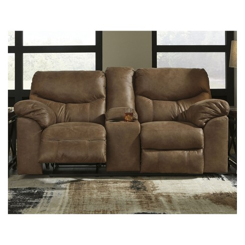 Boxberg Double Reclining Loveseat With Console Signature Design By