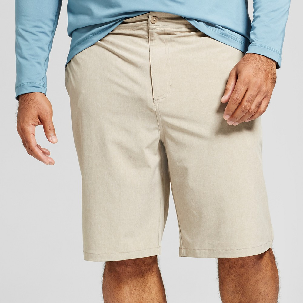 "Image of ""Men's Big & Tall Rotary Hybrid Shorts 10.5"""" - Goodfellow & Co Khaki 56, Green"""