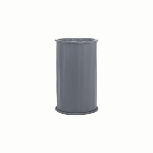 Corrugated Cylinder Pot Charcoal - Foreside Home and Garden - image 1 of 2