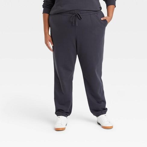 Women's Plus Size Fleece Lounge Jogger Pants - Ava & Viv™ - image 1 of 3