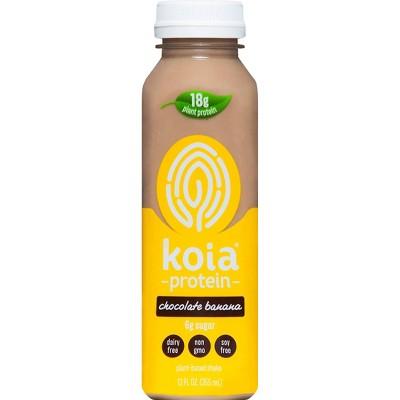 Koia Chocolate Banana Plant Powered Nutrition Shake - 12 fl oz