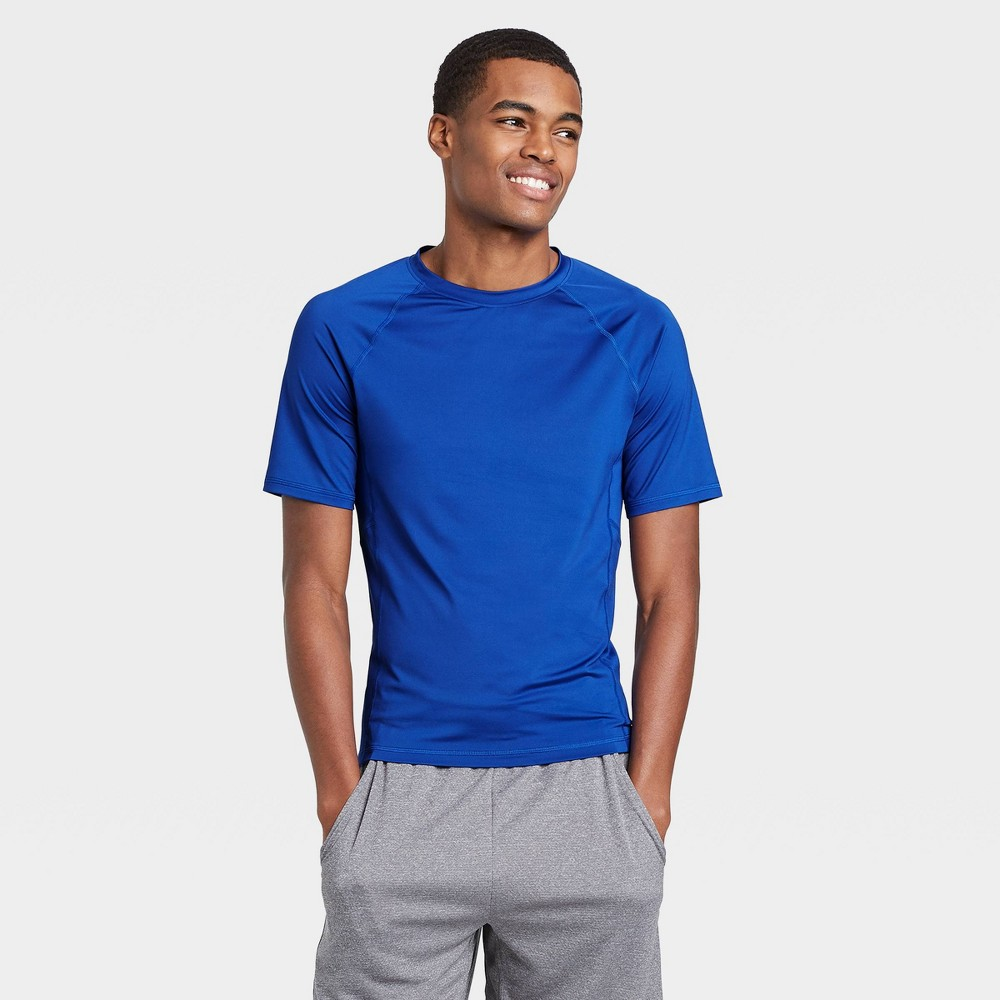 Men 39 S Short Sleeve Fitted T Shirt All In Motion 8482 Blue Xxl