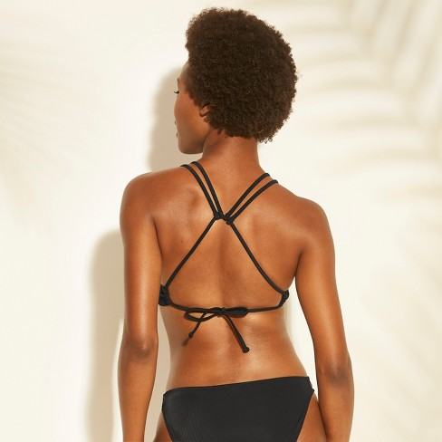 91bde9c90d Women s Ribbed Ring Bralette Bikini Top - Xhilaration™ Black M