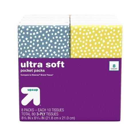 Facial Tissue Pocket Pack - up & up™ - image 1 of 4
