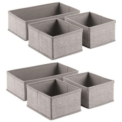 mDesign Kids Fabric Dresser Drawer and Storage Organizer - 6 Pack
