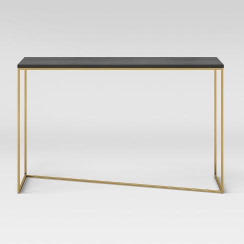 Sollerod Console Table - Brass and Black - Project 62™ - image 1 of 4