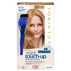 Clairol Root Touch-Up Permanent Hair Color - 8.5A Medium Champagne Blonde - 1 Kit, 8.5A Medium Beige Yellow