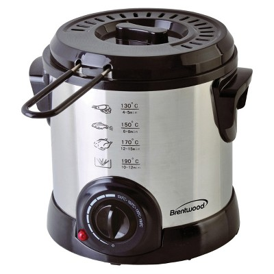 Brentwood 1 Liter Electric Deep Fryer in Stainless Steel