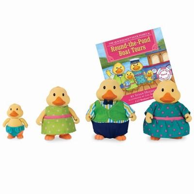 Li'l Woodzeez Miniature Animal Figurine Set - Quickquack Duck Family