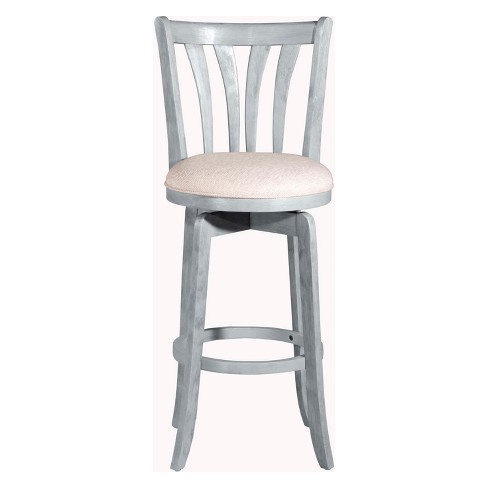 "Savana 25.75"" Swivel Counter Stool Blue (Wirebrush)/Cream - Hillsdale Furniture - image 1 of 2"