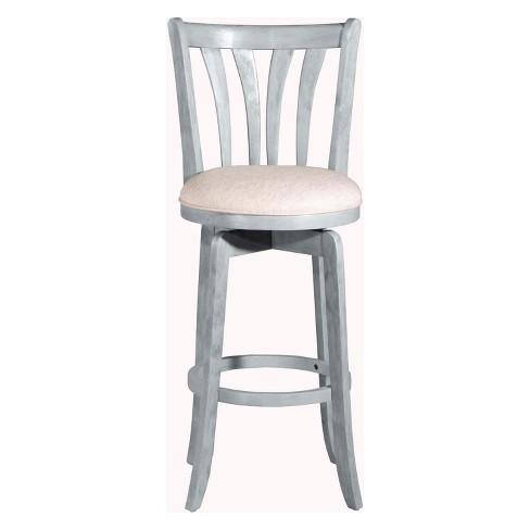 Fabulous 25 75 Savana Swivel Counter Stool Blue Wirebrush Cream Hillsdale Furniture Creativecarmelina Interior Chair Design Creativecarmelinacom